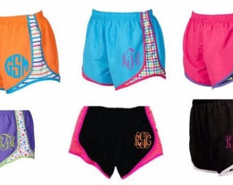 Running shorts Youth, monogrammed