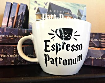 Harry Potter Coffee Mugs, Espresso Patronum, Unique gift for him, Housewarming gift for her, Harry Potter Mug