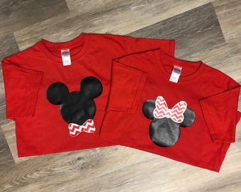 Minnie Mouse/Mickey Mouse/Disney His & Her Shirts/Disney T-shirts for the Whole Family