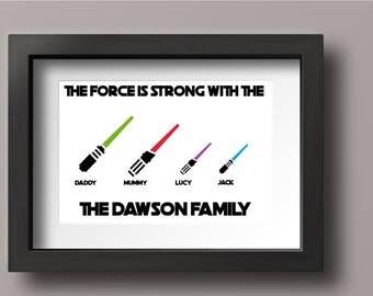 Personalised Star Wars Print