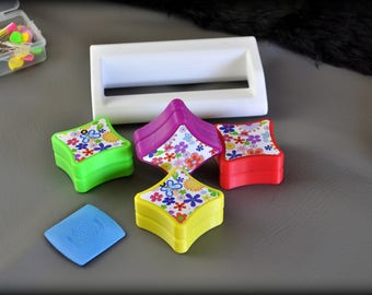 Handmade Colorful 3D Printed Sewing Pattern Weights