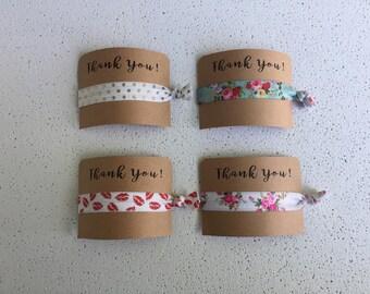 Elastic Hair Ties, Bracelets, Thank You