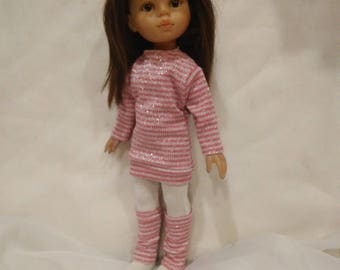 Tunic, leg warmers and tights for Paola Reina doll