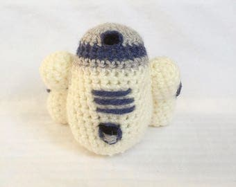 Handmade Crochet Star Wars R2-D2 Knitted Toy