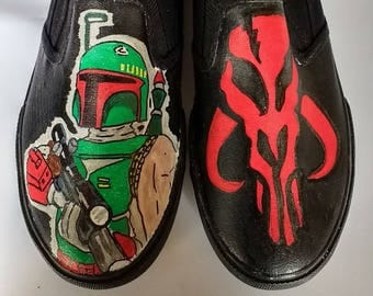 Star Wars Boba Fett hand painted shoes