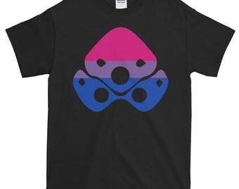 Widowmaker Bi Pride Unisex Short-Sleeve T-Shirt, Overwatch, lgbt, lgbtq, lgbtqipa, queer, queer pride, transgender, asexual, bisexual