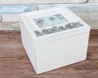 Mr & Mrs small Wedding memory box keepsakes