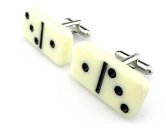 Gambling Cuff links - Domino Block Cuff links - Mini Dominoes Cuff links - Gaming Cuff links - Fun Cuff links - Domino Cuff links