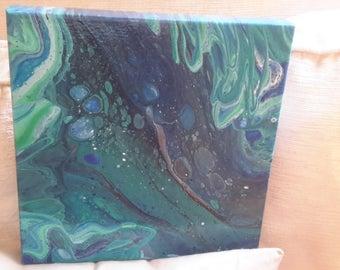 Art acrylic pour (Bottom of the Ocean)