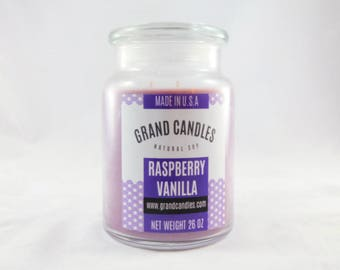 Raspberry Vanilla Soy Candle | Soy Candles | Scented Soy Candle | Candles | Aromatherapy | Scented Candles | Candle | Vegan Candle | Soy Wax
