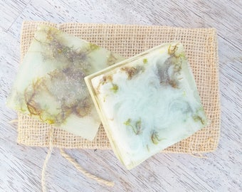 Organic Wood Moss Soap, Forest Soap, Mens Soap, Natural Soap for Men, Handmade Soap, Manly Soap, Gift for Husband, Gift for Boyfriend