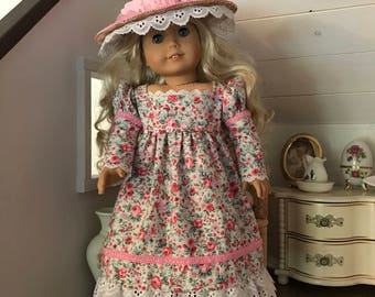 Floral Chemise Dress for 18 inch doll American Girl Caroline