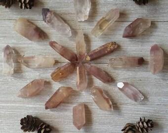 Lithium Quartz Points ~ Lithium Included Quartz ~ Shades of Blush, Rose and Mauve ~ Deep, Gentle Healing