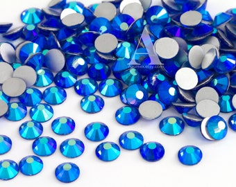 Sapphire AB Glass Rhinestones for Embellishments 2-6mm