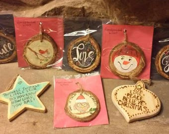 Handcrafted Wooden Ornaments