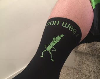 Rick and Morty : Mr Poopybutthole tall socks