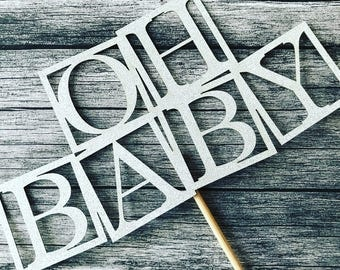 Oh Baby Cake Topper, Baby Blocks Cake Topper, Baby Shower, Cake topper