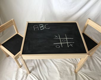 Kids Chalkboard Table and Chairs Set