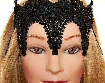 evil queen crown, black crown, sex and the city ,black wedding dress,black fascinator,carrie bradshaw crown,bachelorette party