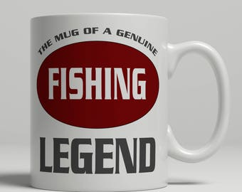 Fishing mug, Fishing gift, Angling mug, Fishing gift idea, Fishing legend mug, Fishing coffee mug, coffee mug fishing, fishing EB fishing