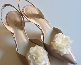 Shoe clip organza flower