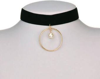 Ring Necklace Chokers, Pearl choker, Women Fashion Necklaces