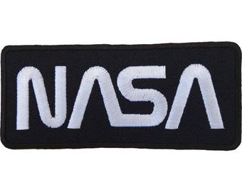 NASA Patch Astronaut Fancy Dress Costume Embroidered Sew / Iron On Badge Logo