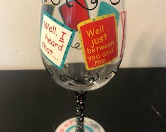 Gossip Wine Glass