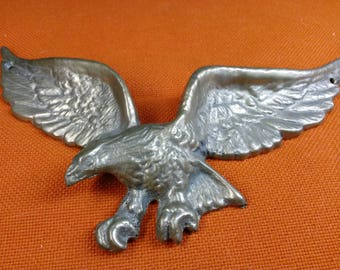 "9"" Brass Eagle Wall Decor"