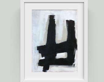 "Original Mid-century Modern Painting, Untitled, Acrylic on Paper, 5""x7"", UNFRAMED"