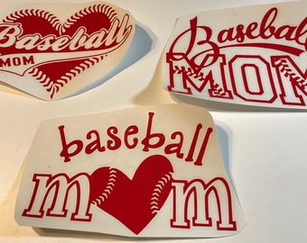 Car decals sports baseball mom