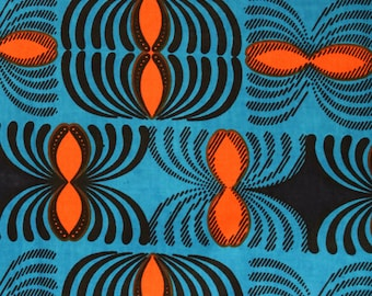African Print Wax Block Print Sold  by the yard  100% cotton Patterned fabric Craft & Supplies by Dovetailed
