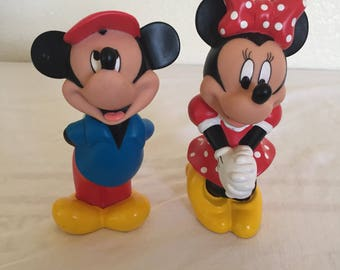 Vintage Mickey Mouse & Minnie Mouse toys.
