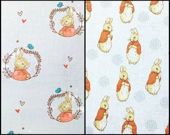 Peter Rabbit fabric - Beatrix Potter - childrens fabric - cotton crafts children's clothing crafts quilting