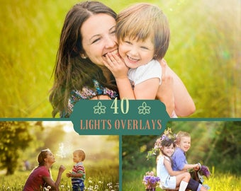40 Light Overlay, Sun Lens Flare Photoshop Overlays, sun overlay, sun flare overlay, Light Leaks Photoshop, Wedding Overlays, Sun Overlays