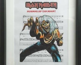 Iron Maiden sheet music art