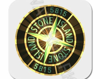 4 x Stone island Printed Mug Coaster Coasters . football casual casuals