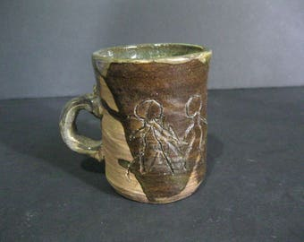Vintage Hand Made Mug, Primitive Mug