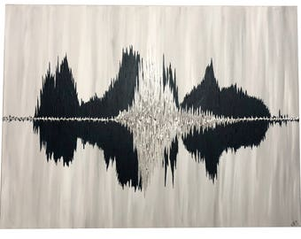 Sound Wave Art, Sound Wave Art Canvas, Sound Wave Canvas, Wave Art, Custom Sound Wave Canvas Art, Custom Sound Wave Painting, Soundwave Art