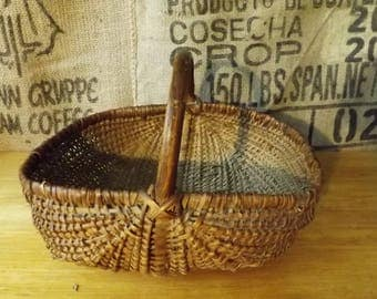 Vintage French Wicker Basket