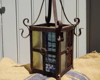 Vintage French Hanging Light Chandelier Lantern