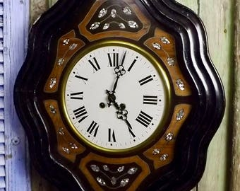 Antique French Wall Clock c1850 working order