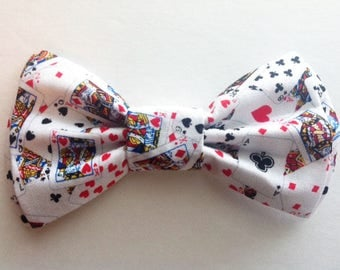 Mens Bow Tie, Dad and Son Bow Ties, Poker Bow Tie, Father Son Bow Ties,Groomsmen Bow Tie, Cards Bow Tie, Boys Bow Tie  DS728