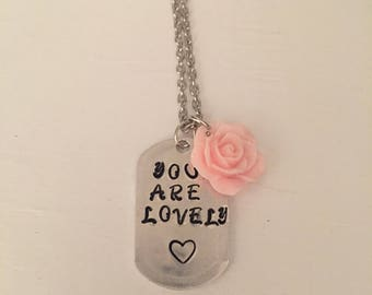 You Are Lovely' Rose Twenty One Pilots Necklace FREE SHIPPING