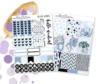 Blue Vibes (EC) - Planner Stickers Happy Planner Erin Condren