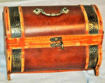 Faux leather box