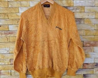 Jimy & emiry velvet crewneck sweatshirts large size small logo embroidered