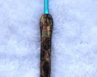 Metallic Size H Hook, Bates Size I Hook, Polymer Clay Hook, Susan Bates, Crochet Hooks, Handmade Crochet Hooks, Craft Supplies, Crochet