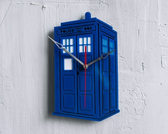 Doctor Who art Clock Dr Who Tardis art doctor who print Tardis doctor who kitchen clock dr who doctor who birthday gift dr who watch
