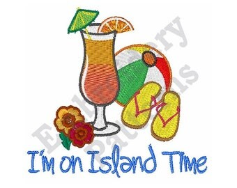 Island Time - Machine Embroidery Design